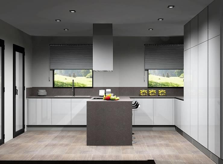 Cozinhas funcionais: Cozinhas  por Amplitude - Mobiliário lda