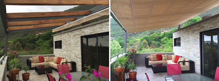 Hiên, sân thượng by ICAZBALCETA Arquitectura y Diseño