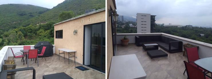 ระเบียง, นอกชาน โดย ICAZBALCETA Arquitectura y Diseño,
