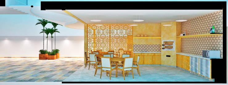 Espaço Gourmet: Cozinhas rústicas por Arquiteto e Urbanista Ricardo Pereira Macedo