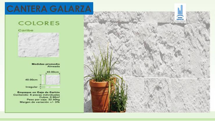 CANTERA GALARZA: Paredes y pisos de estilo  por ENFOQUE CONSTRUCTIVO