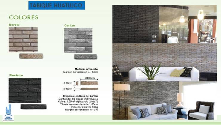 TABIQUE HUATULCO: Paredes y pisos de estilo  por ENFOQUE CONSTRUCTIVO