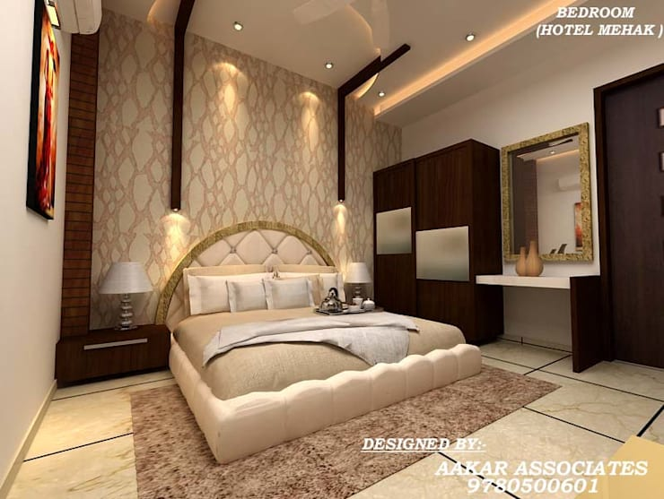 residental,commercial:  Bedroom by aakarconstructions