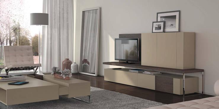 Salas de estar Living rooms www.intense-mobiliario.com  MARLIM http://intense-mobiliario.com/pt/salas-de-estar/3637-sala-de-estar-marlim.html: Sala de estar  por Intense mobiliário e interiores;