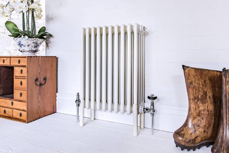 Bordo steel column radiator:  Interior landscaping by Feature Radiators