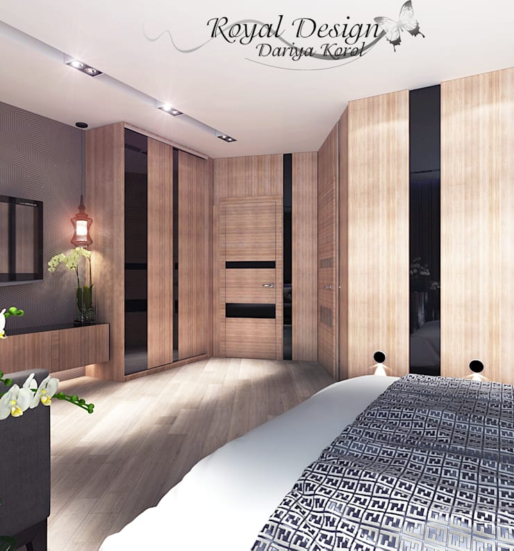 Bedroom by Your royal design, Minimalist Wood Wood effect