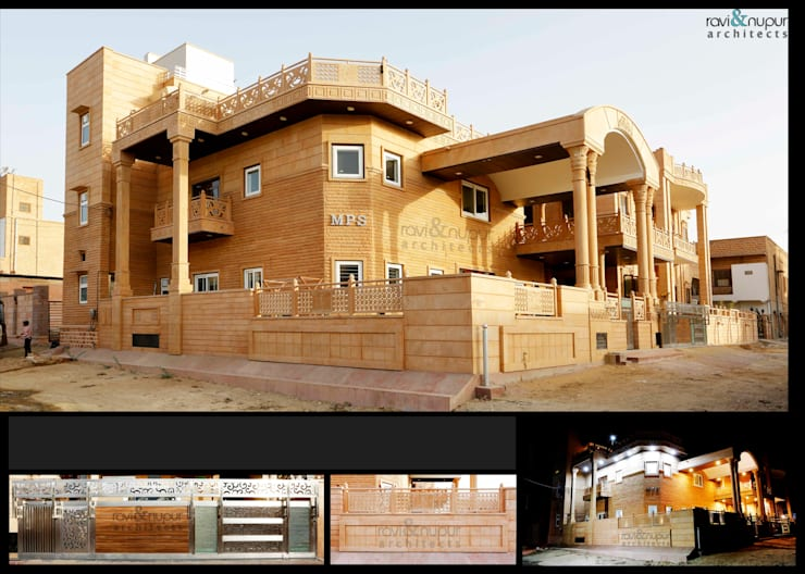 Completed Project at a glance #Residence @ Soorsagar , Jodhpur ,Rajasthan: classic Houses by RAVI - NUPUR ARCHITECTS