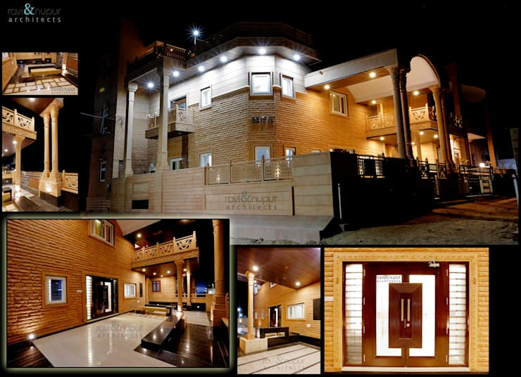 Completed Project at a glance #Residence @ Soorsagar , Jodhpur ,Rajasthan:  Houses by RAVI - NUPUR ARCHITECTS