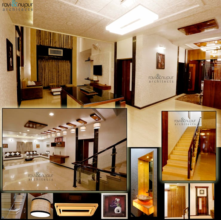 Completed Project at a glance #Residence @ Soorsagar , Jodhpur ,Rajasthan: classic Living room by RAVI - NUPUR ARCHITECTS