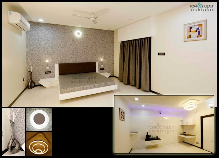 Completed Project at a glance #Residence @ Soorsagar , Jodhpur ,Rajasthan:  Bedroom by RAVI - NUPUR ARCHITECTS
