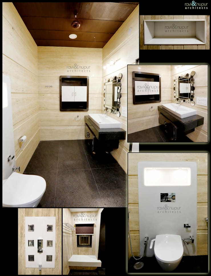 Completed Project at a glance #Residence @ Soorsagar , Jodhpur ,Rajasthan:  Bathroom by RAVI - NUPUR ARCHITECTS