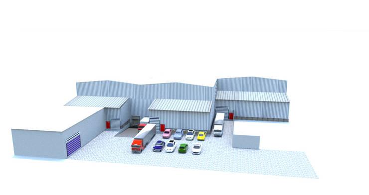 Parque industrial La Dolores -Valle del Cauca- Colombia Garajes de estilo clásico de Crearquitech S.A.S Clásico