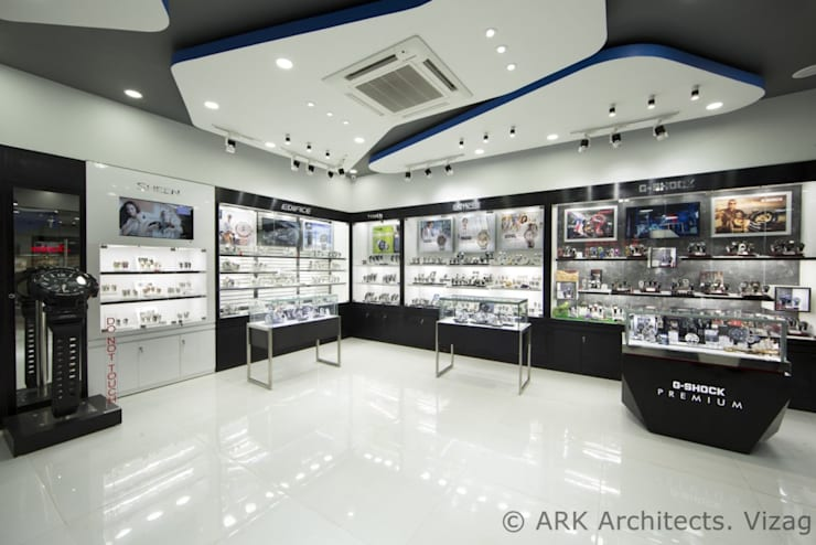 Watch Show Room:  Commercial Spaces by ARK Architects & Interior Designers,Modern