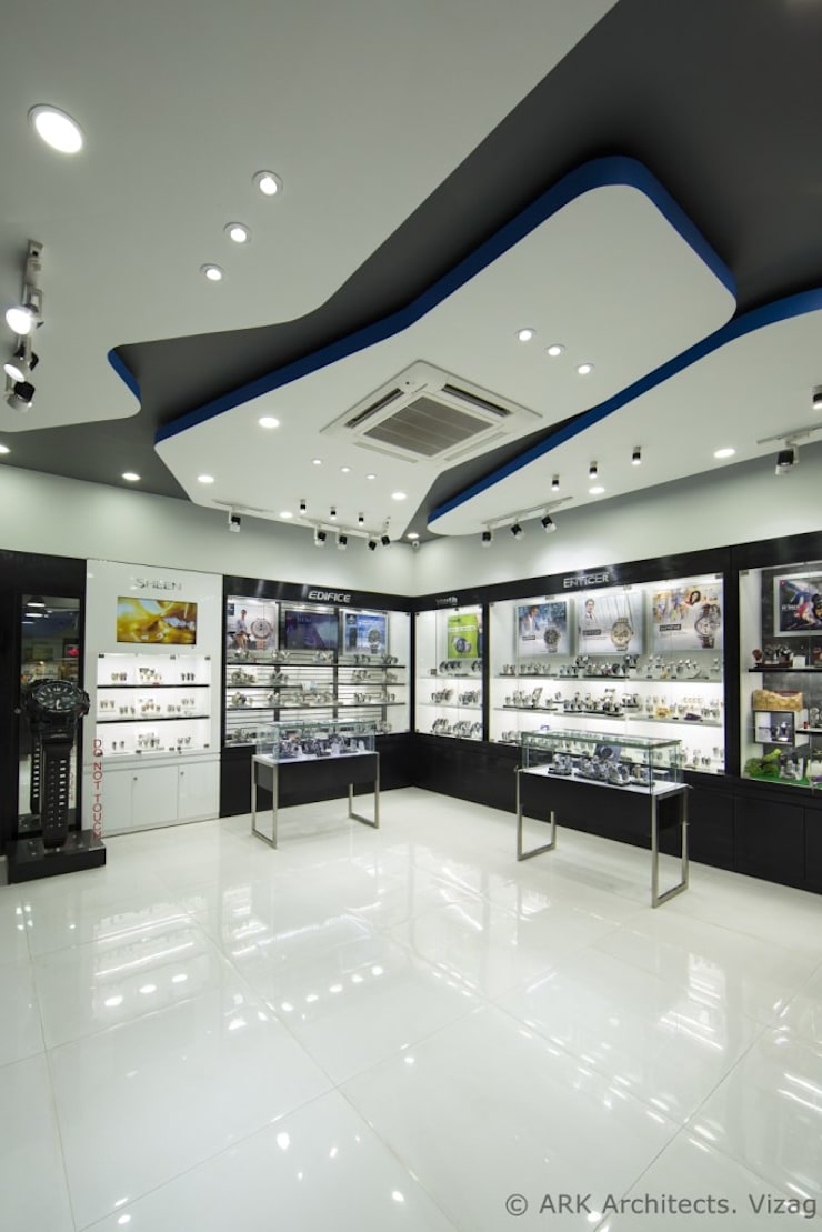 Casio Showroom, vizag:  Commercial Spaces by ARK Architects & Interior Designers,Modern