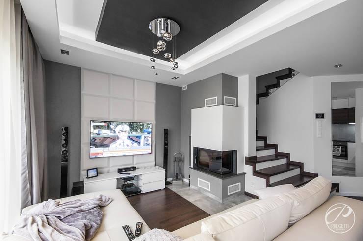 Salas de estilo moderno de Progetti Architektura Moderno