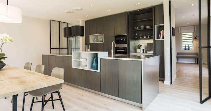 modern Kitchen by Bau-Fritz GmbH & Co. KG