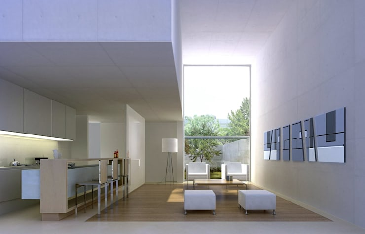 Duplex: Livings de estilo minimalista por LIMMIT