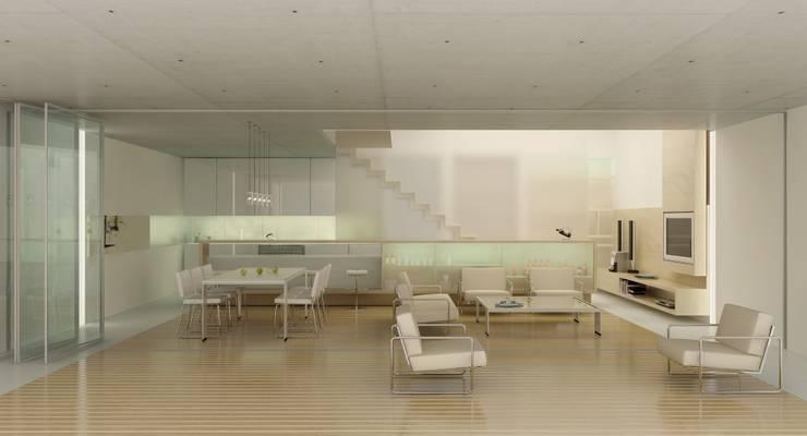Edificio Simbron : Livings de estilo  por LIMMIT