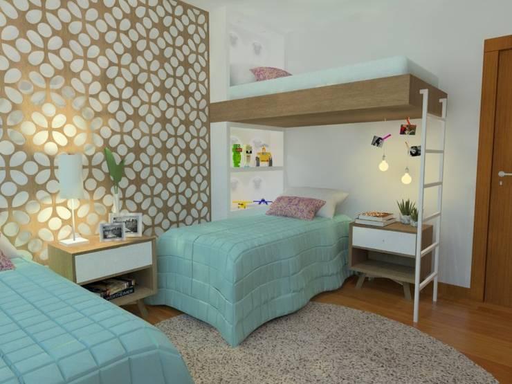 Детские комнаты в . Автор – Ana Guadalupe Arquiteta