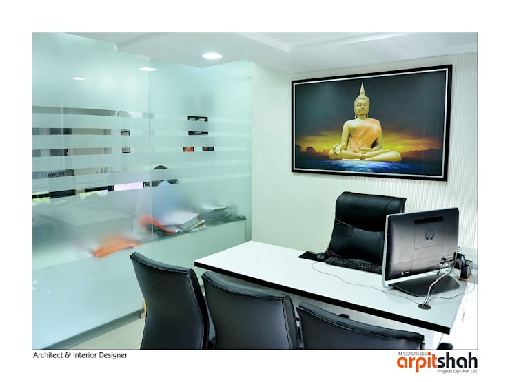 Manish Desai Office@Shivalik:   by ARPIT SHAH PROJECTS OPC PVT LTD.