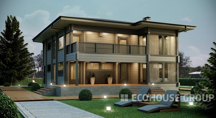 Casas de estilo  por EcoHouse Group