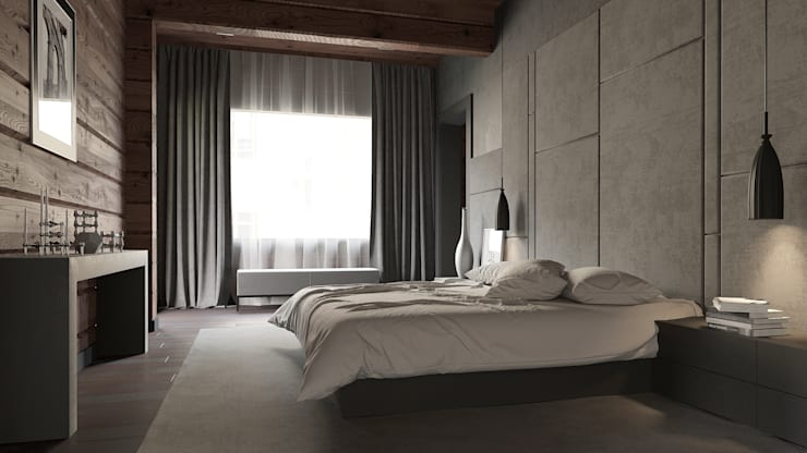 Chambre de style  par EcoHouse Group