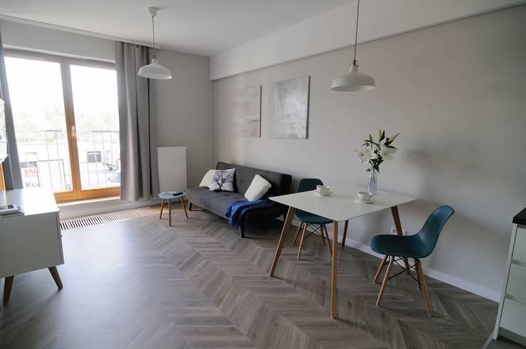 Livings de estilo  por ARTEMA  PRACOWANIA ARCHITEKTURY  WNĘTRZ , Escandinavo