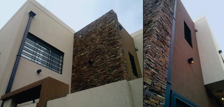 Fachada Vivienda en Berazategui: Casas de estilo  por MONARQ ESTUDIO