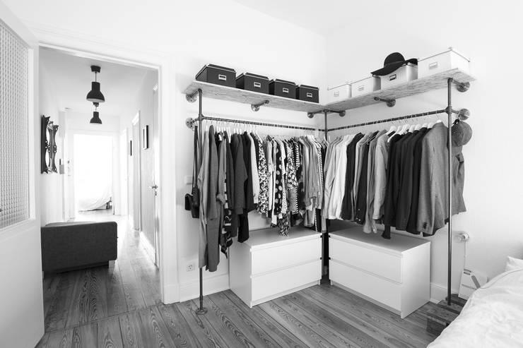 Offener Kleiderschrank:  Schlafzimmer von various - Design aus Stahlrohr