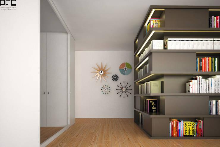 APARTAMENTO JC_PÓVOA DE VARZIM_2015: Corredores e halls de entrada  por PFS-arquitectura