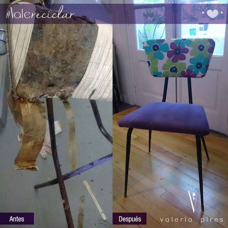 Silla tipo americana : Livings de estilo  por Valeria Pires Interiorismo