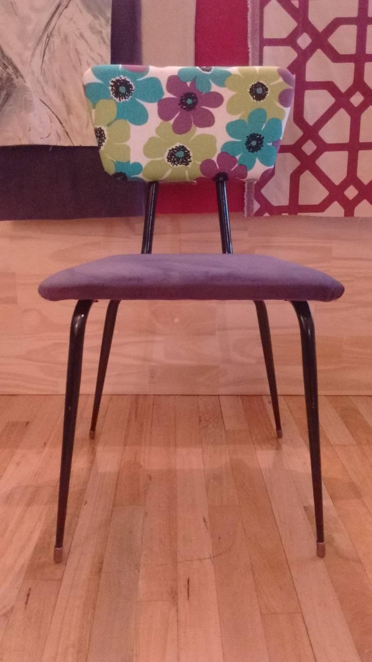 Silla americana restaurada: Livings de estilo  por Valeria Pires Interiorismo