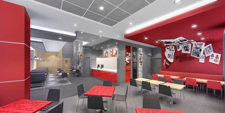 KFC ARMENDARIZ : Espacios comerciales de estilo  por ARKILINEA,