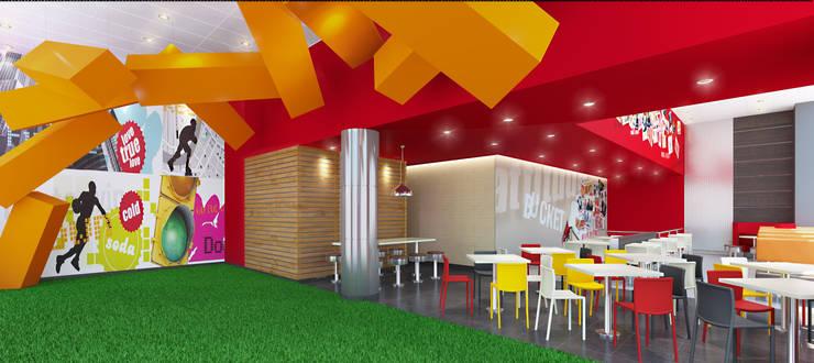 KFC LA RAMBLA SAN BORJA: Espacios comerciales de estilo  por ARKILINEA,