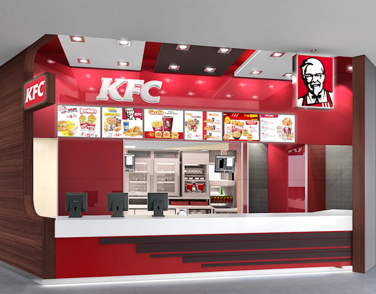 KFC FOOD COURT SALAVERRY: Espacios comerciales de estilo  por ARKILINEA,