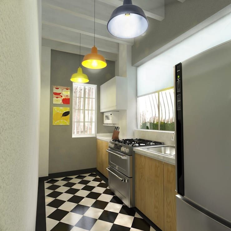 Cocina: Cocinas de estilo  por Kuro Design Studio