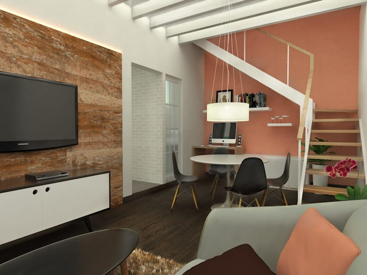 Comedor: Salas de estilo escandinavo por Kuro Design Studio