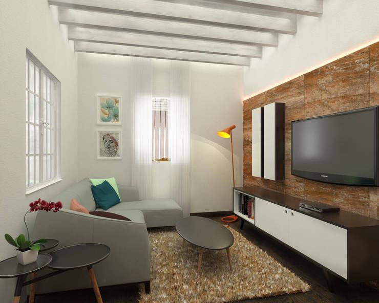 Sala: Salas de estilo escandinavo por Kuro Design Studio