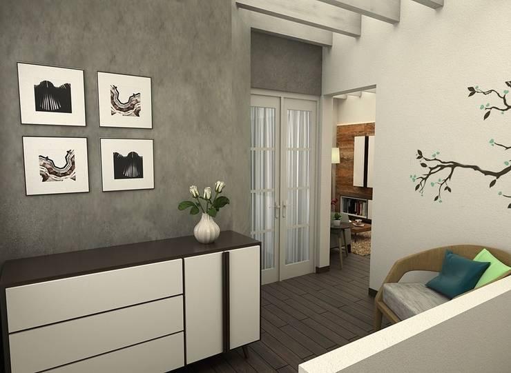 Recibidor: Salas de estilo escandinavo por Kuro Design Studio
