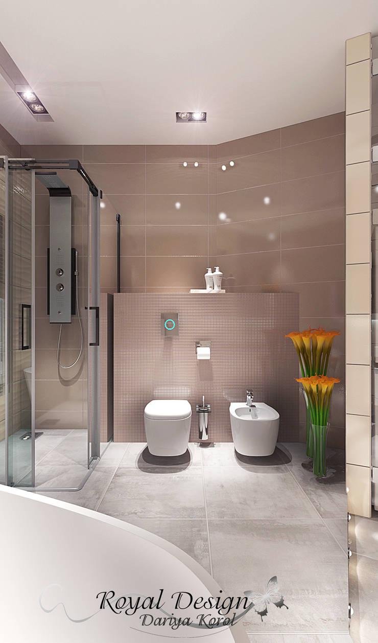 Bathroom with curved walls 2: Ванные комнаты в . Автор – Your royal design, Минимализм