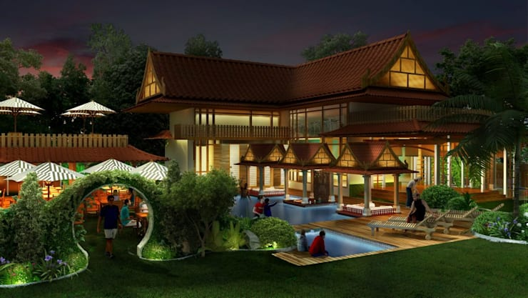 residential colony :  Spa by Vinyaasa Architecture & Design