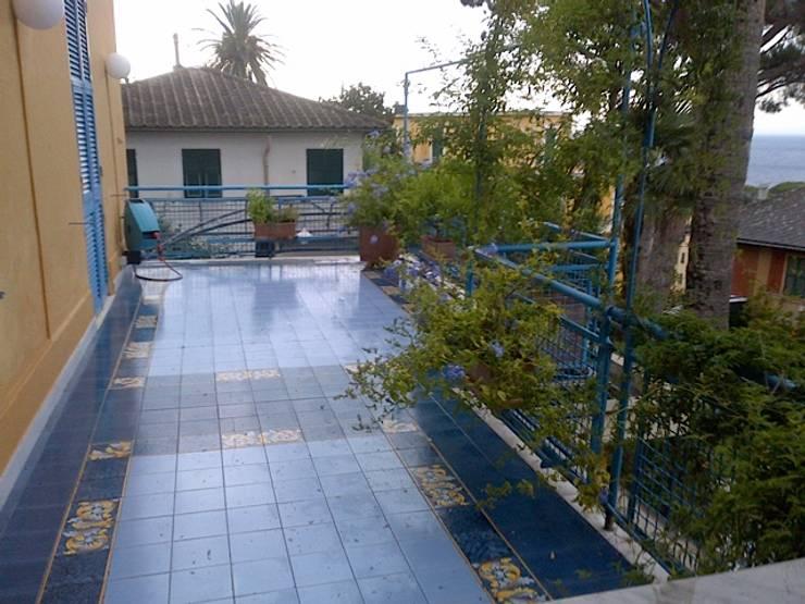 Progetto della pavimentazione del terrazzo in piastrelle di