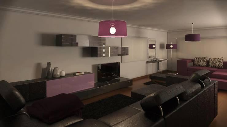 Interior : Sala de estar  por Judite Barbosa Arquitetura