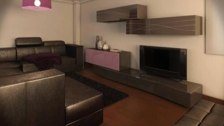 Interior: Sala de estar  por Judite Barbosa Arquitetura