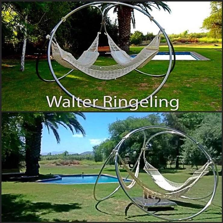 Porta Hamacas Triple: Jardín de estilo  por Walter Ringeling Diseño & Mobiliario