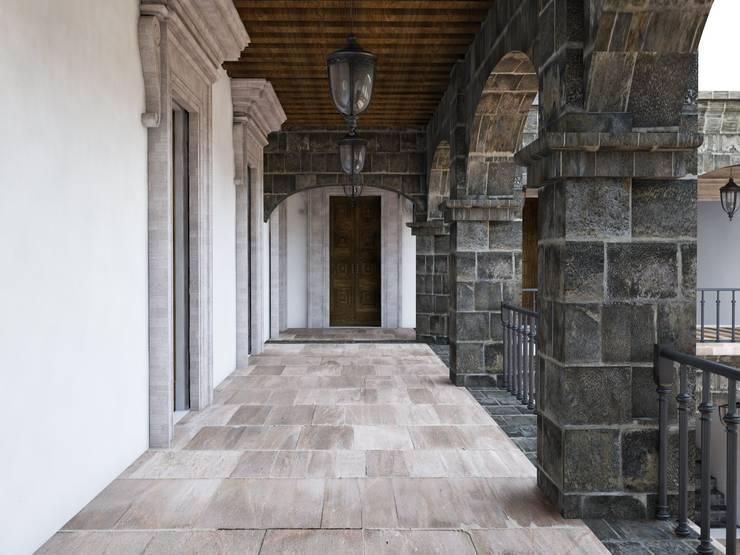 Vista primera planta pasillo:  de estilo  por MRamos