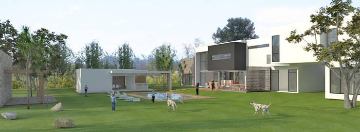 Area ludica-recreativa: Albercas de estilo  por RecreARQ Construcciones