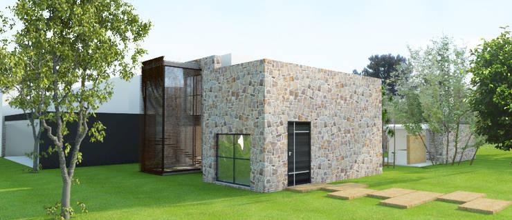 Acceso principal: Casas de estilo  por RecreARQ Construcciones