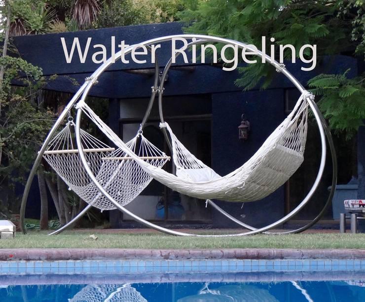 Porta Hamacas: Jardín de estilo  por Walter Ringeling Diseño & Mobiliario