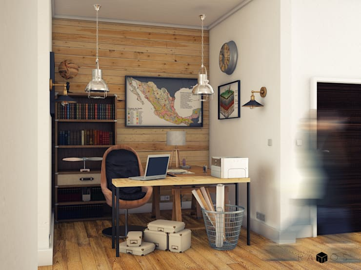 Vista oficina ingeniero civil:  de estilo  por MRamos